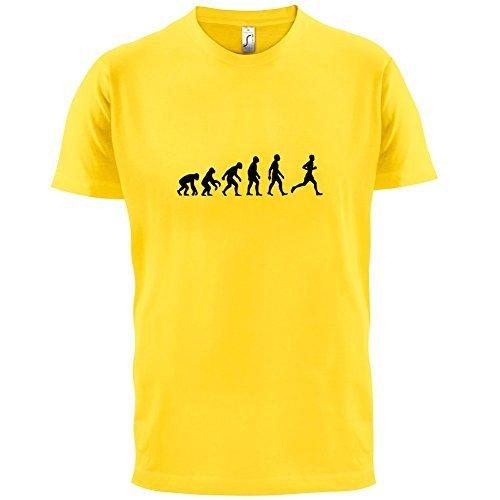 Evolution of Man - Laufen - Herren T-Shirt - 10 Farben Gelb