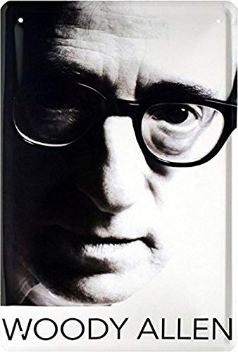 Blechschild Film Star Woody Allen Filmregisseuer Metallschild Wanddeko tin Sign -