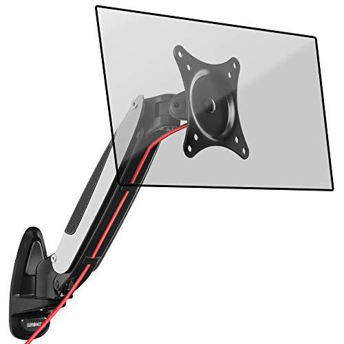 Duronic DM65W1X1 Wandhalterung/Monitorhalterung / Bildschirmhalterung/Monitorarme für einen LCD/LED Computer Bildschirm/Fernsehgerät mit Gasfeder