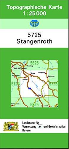 Preisvergleich Produktbild TK25 5725 Stangenroth: Topographische Karte 1:25000 (TK25 Topographische Karte 1:25000 Bayern)