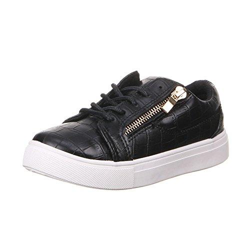 Chaussures pour enfants garçons et filles k-25, chaussures Noir - Schwarz (31-36)