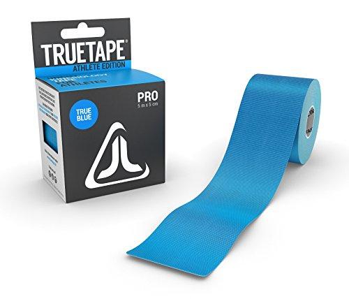 TRUETAPE ATHLETE EDITION PRO | Kinesiologie Tape | 5m x 5cm | ungeschnitten | Blau | CE-Zertifiziert