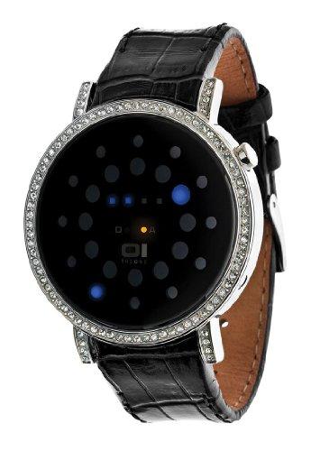 Thumbs Up! 32 Blue LED with Rhinestones and Steel Case BINORS502B1 – Reloj de Pulsera Unisex