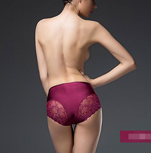 3 Taschen Damen Briefs Hosen Ice Thema Ohne Eine Spur Unterwäsche-reizvolle Spitze-Gewebe-Baumwolle Schrittgurt Taille Mit Hohen Taille A5
