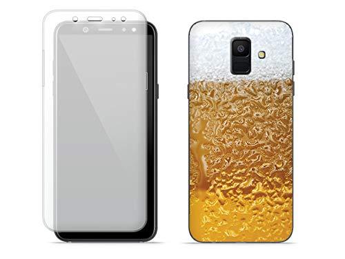 etuo Handyhülle für Samsung Galaxy A6 (2018) - Hülle Full Body Slim Fantastic - Bier mit Schaum - Handyhülle Schutzhülle Etui Case Cover Tasche für Handy