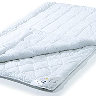 aqua-textil 4 Jahreszeiten Soft Touch Stepp-Bettdecke, 155 x 220 cm