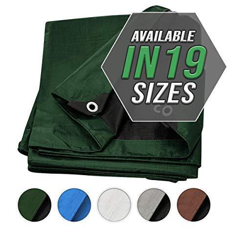 Abdeckung grün/schwarz dickes Hochleistungs Material, wasserdicht, toll für das Baldachin Zelt, Boot, Wohnwagen oder als zeltplane Abdeckung für den Pool!