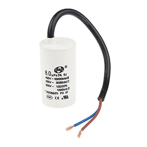 Generic 450V Ac 8UF 50/60Hz Polypropylenfolie Motor Laufen Kondensator Cbb60 Beginnen (Kondensator Laufen Motor Ac)