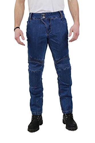 Nerve Ranger Jeans Pantalones Vaqueros de Moto, Azul, M