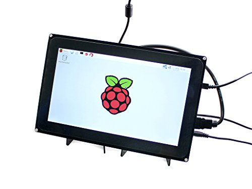 Makibes Raspberry 10.1 Zoll kapazitiver Touch Screen LCD 1024 × 600 HDMI mit Bicolor Hülle für Raspberry Pi / BB SCHWARZ / PC Systeme