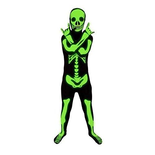 Zweite Haut Kinder Skelett Glow in the Dark, 7-9 Jahre