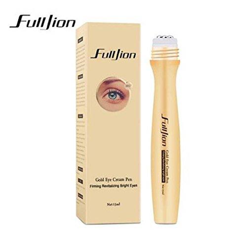 Anti Ageing 24 K Gold Augencremegel Rollerball mit Hyaluron und weisser Lilie für ein sofortiges Abschwellen und sanfte Pflege