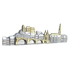 Unbekannt Heidelberg Krawattennadel Krawattenklammer Heidelberger Skyline Bicolor inkl. Geschenkbox