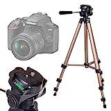 Duragadget Trépied Ajustable Solide pour Canon EOS 4000D, EOS 2000D, Nikon D3500,...