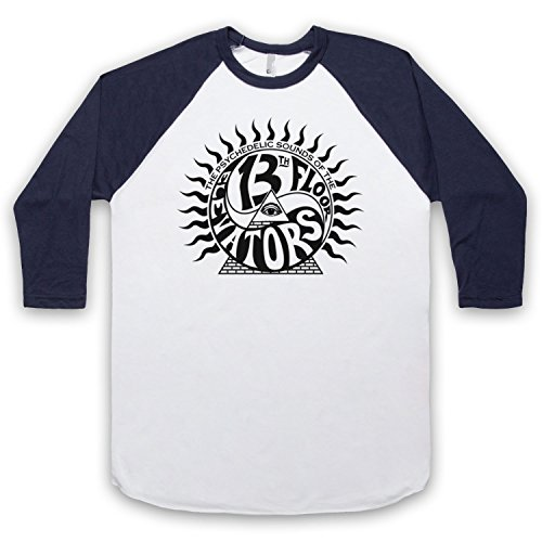 Inspiriert durch 13th Floor Elevators Psychedelic Sounds Unofficial 3/4 Hulse Retro Baseball T-Shirt Weis & Ultramarinblau