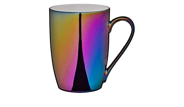 Iridescent Rainbow Coloured Mug Morning Coffee Cup Multicoloured New