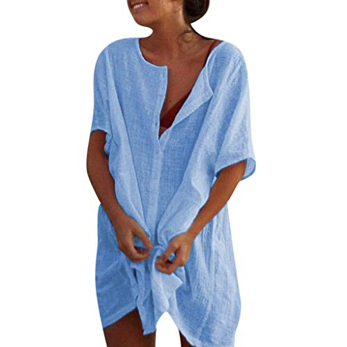Kapian Damen O Neck figurbetontes Kleid Streifen Print Kurzarm Party Sexy Club Mini, Bunt gestreiftes dünnes T-Shirt Pit Cotton Einfache und Bequeme Mode