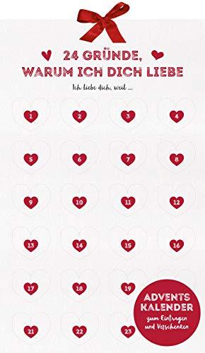 24 Gründe, warum ich dich liebe: Adventskalender zum Eintragen und Verschenken