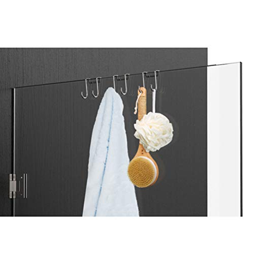 ounona 2pcs t rhaken t rgarderobe edelstahl schrank und schublade haken kleiderhaken zum. Black Bedroom Furniture Sets. Home Design Ideas