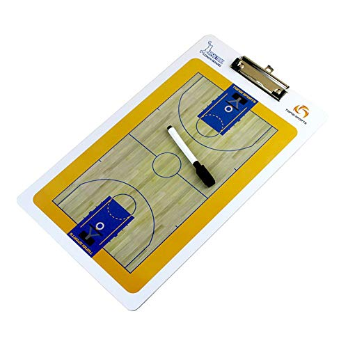 Taktikboard/Taktikmappe/Coach-Mappe Trainer Markierungsbrett-Markierung, die faltbare Markierungs-Brett-Basketball-Sportstrategie-Brett mit Stift trainiert ( Farbe : One color , Größe : 35.5*20cm ) -