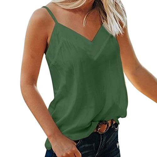 Weste Frauen Sommer Gurt beiläufige Feste V-Ausschnitt Weste Shirt ärmellose Tops Bluse Strappy 4