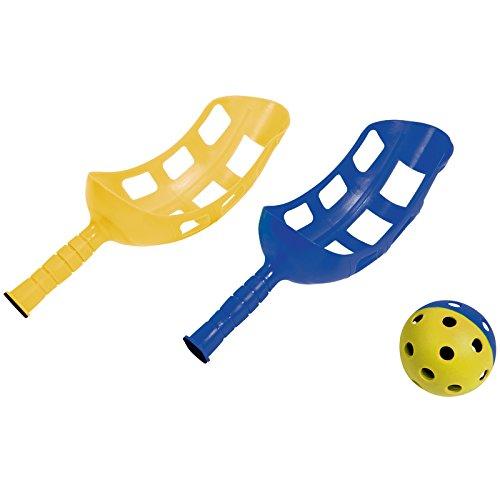 HUDORA Fangballspiel Set für 2 Spieler Ballspiel Spiel Kinderspiel Fangspiel