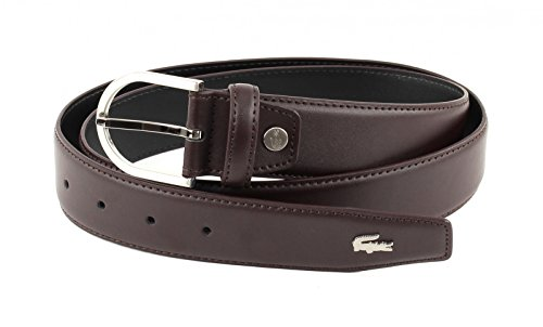 Lacoste Curved Stitched Edges Belt W110 Brown