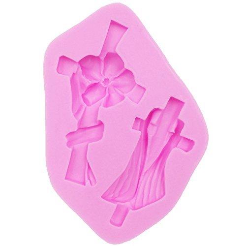 musykrafties Kreuze Fondant Candy Silikonform für Sugarcraft,Kuchen Dekoration,Cupcake Deckel, Schokolade, Gebäck, Kekse Dekor, Schmuckschachteln, Polymer tonboden, exoxidharz, Basteln Projekte (Polymer-ton-kuchen-deckel)