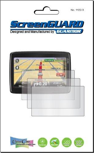3 x 825 Europe leben Tomtom GO LIVE 12,7 cm GPS Sat Nav Klar Schutzfolie Kit Displayschutzfolien für LCD, kein Schneiden (3 Stücke Guarmor) Sat Nav Kit