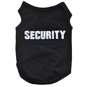 FEITONG Nouveau mode d'été mignon de chien Puppy Vest en coton imprimé T-shirt (XS, Noir)