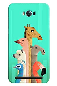 Blue Throat Animal Neck Pattern Printed Designer Back Cover/ Case For Asus Zenfone Max