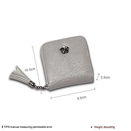 Faysting EU donna portafoglio donna borsellino multi colori piazza forma con nappa buon regalo B
