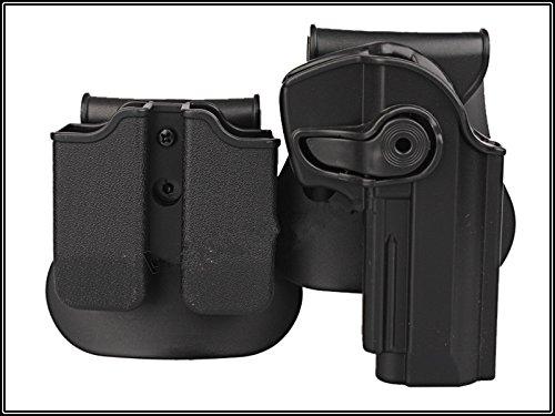 Paintball Equipment Rechte Hand Pistolenholster für Beretta 92 96 M92 und Doppelt Magazintasche