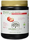 Golden Source Proteins Organisches Proteinpulver auf pflanzlicher Basis, Erdbeere
