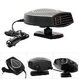 Bescita Auto Heizlüfter, Turbo Komfort Innenraumheizung/Mobile Heizung | PKW - Innenraumheizung/Innenraum Heizlüfter | Automatischer Überhitzungsschutz | 12 V 150 Watt (Grau)