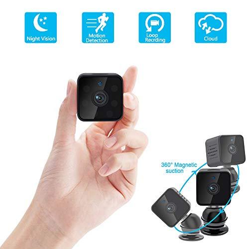 Reportaje:  1. puedes ver el video en vivo a través de un teléfono inteligente cuando te conectes a wifi; 2. Puedes usarlo como una mini cámara después de insertar la tarjeta sd (sin necesidad de conectarte a la red wifi); 3. Detección de movimiento,...