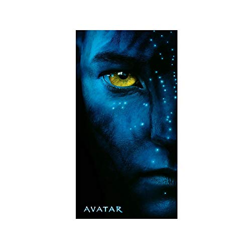 Soleil d'ocre Drap DE Plage Velours Imprime 'Avatar Movie Eye' 152x76 cm
