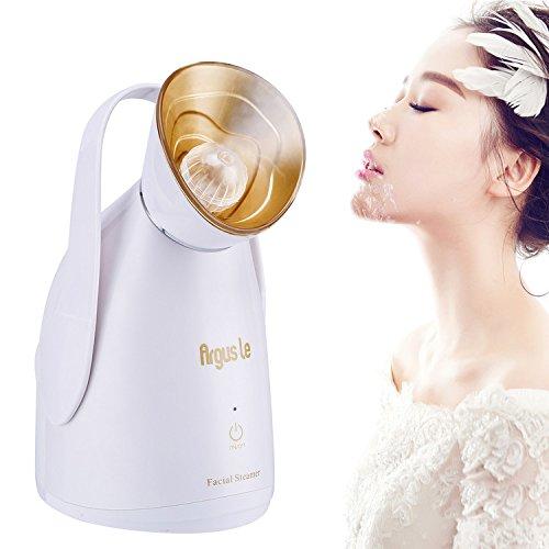 Argus Le Nano iónico Facial Vapor Caliente niebla limpieza poros Hidratante con Aceite Esencial y leche Personal Sauna Spa calidad sistema de hidratación cuidado de la piel facial Nano Pulverizador