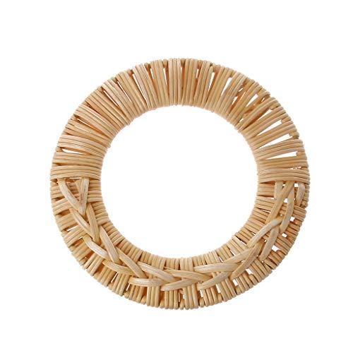 1 Stück Runde Rattan Tasche Griff DIY Tasche Kleiderbügel Holz Bambus Geldbörse Rahmen Mode Strap Cane Stroh Tasche Griff -