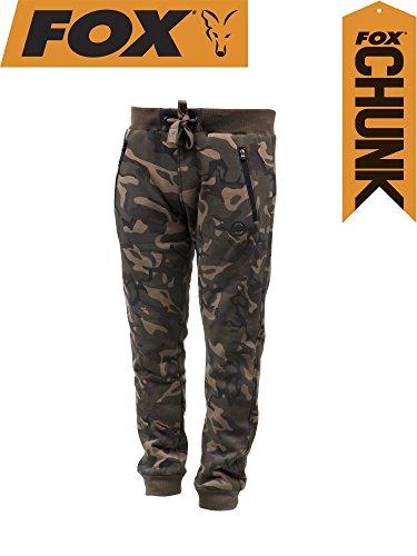 Fox Chunk Camo Lined Joggers - Angelhose, Anglerhose, Hose für Angler, Angelhosen, Anglerhosen, Jogginghose, Größe:M