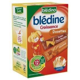 Blédina blédine croissance dosettes céréales grands bébés choco/biscuitée+caramel 240g dès 12 mois