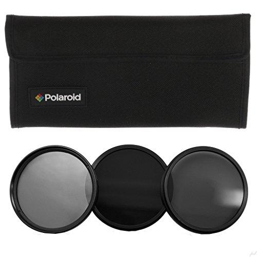 Polaroid professionelle Graufilter (Neutraldichte – ND) für 52mm-Optiken im 3er-Set für Fotoaufnahmen (ND3, ND6, ND9) mit Gratis-Filtertasche