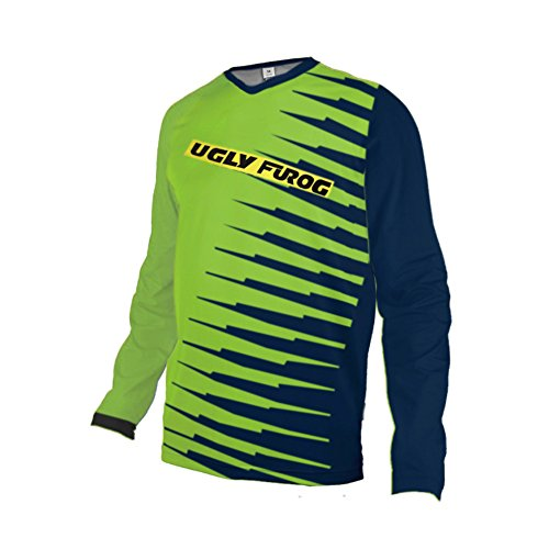 Uglyfrog Motocross/Downhill MTB Jersey Trikot MX Enduro Offroad Motorrad Kurze/Lange Ärmel Erwachsene Auto & Motorra Wear