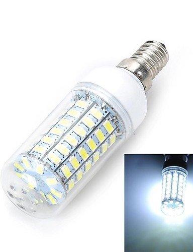YangR* E14/E27 12W 1200LM 69-5730 SMD Warm/kalt-weiss LED Lampe Mais (AC 220~240V) , Weiß-e14 Dusk To Dawn Glühbirne Adapter