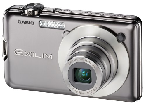 Casio EXILIM EX-S10 SR Digitalkamera (10 Megapixel, 3-fach opt. Zoom, 6,9 cm (2,7 Zoll) Display) silber