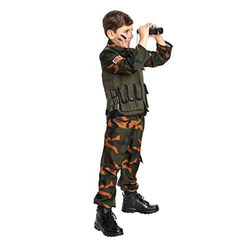 tär Kostüm Kinder Militärkostüm Soldat Kostüm Jungen Soldatenkostüm Größe 152 (Kinder Militär Kostüme)