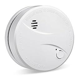 HEIMAN Smoke Alarm, 10-Year Battery Operated Smoke Detector Fire Alarm, EU Notified Body Certified EN 14604, CE Certified Fire Detector Battery Back-up with Photoelectric Sensor by Hhqing