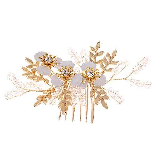 Monllack Golden Leaf Kamm Braut Hochzeit Haarschmuck Exquisite Headwear Hochzeit Schmuck Hochzeit Kleid Zubehör -
