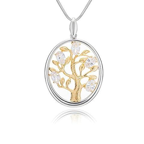 Lilly Marie Exclusive–Collier Argent 925Pendentif Arbre de Vie Étui à bijoux coffret cadeau