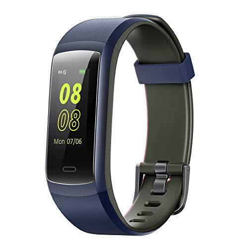 YAMAY Fitness Armband,Wasserdicht IP68 Fitness Tracker mit Pulsmesser Fitness Uhr Schrittzähler Smartwatch Pulsuhr Aktivitätstracker Sportuhr für Damen Herren Anruf SMS Beachten für iOS AndroidHandy